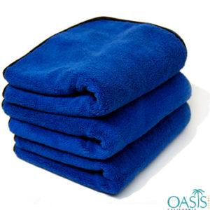Wholesale Royal Blue Microfiber Towels