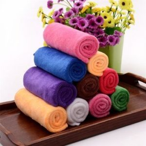 Wholesale Multicolored Bright Microfiber Towels