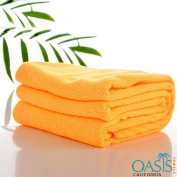 Wholesale Orange Microfiber Towels Manufacturer