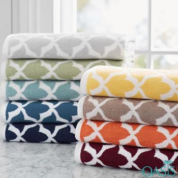 Wholesale Vibrant Color Criss- Cross Organic Towels Manufacturer