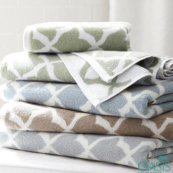 Wholesale Pastel Shade Criss-Cross Organic Towels Manufacturer