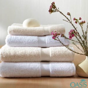 Wholesale Set of White and Cream Organic Towels Manufacturer