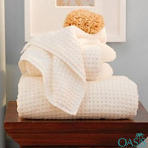 Wholesale Peach Waffle Weave Organic Towels Manufacturer