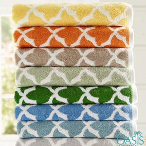 Wholesale Rich Criss-Cross Weave Organic Towels Manufacturer