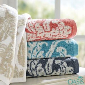 Wholesale Leafy Weave Color Rich Organic Towels Manufacturer