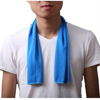 Wholesale Pale Blue Promotional Cooling Towel Manufacturer