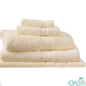 Wholesale Champagne Cream Custom Towels Manufacturer