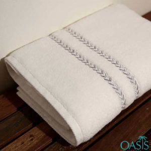 Wholesale Magical White with Matte Lace Custom Towels Manufacturer