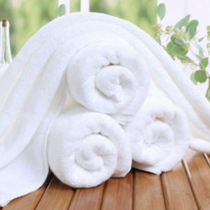 Wholesale Pearl White Custom Towels Manufacturer