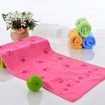 Wholesale Hot Pink Floral Motif Bath Towel Set