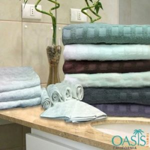 Wholesale Check Weave Plush Bath Towel Set Manufacturer