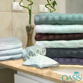 Wholesale Check Weave Plush Bath Towel Set Manufacturer