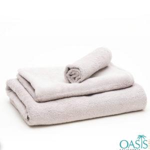 Wholesale Mild Grey Tinged White Custom Towels Manufacturer