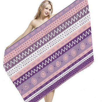 Wholesale Soft Purple Striped Bleach Proof Salon Towels Manufacturer