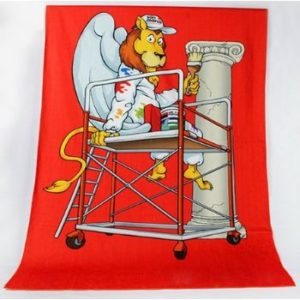 Cute Motif White and Red Kids Bath Towels Wholesale