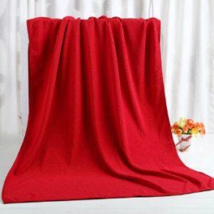Wholesale Scarlet Red Custom Towel Manufacturer