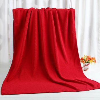 Wholesale Scarlet Red Custom Towel Manufacturer