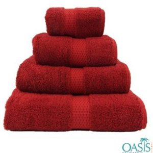 Wholesale Rich Red Egyptian Towels Manufacturer