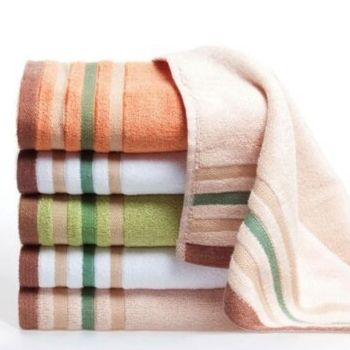 Wholesale Peach Printed Microfiber Towel Set