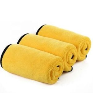 Striking Yellow Microfiber Towel Set