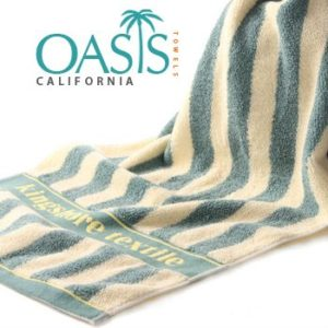 Lemon and Cadet Striped Towels Manufacturer