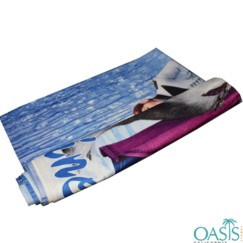 Wholesale Streaming Water with Stud Sublimation Towels Manufacturer