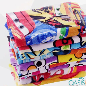 Colorful Kiddo Cartoon Wholesale Sublimation Towels Manufacturer
