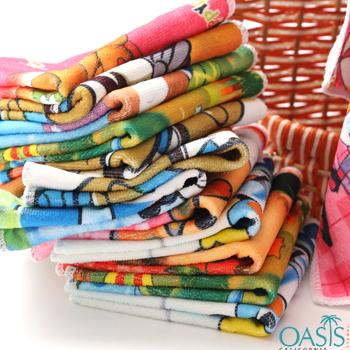 Wholesale Vibrant Cartoon Print Wholesale Sublimation Towels Manufacturer