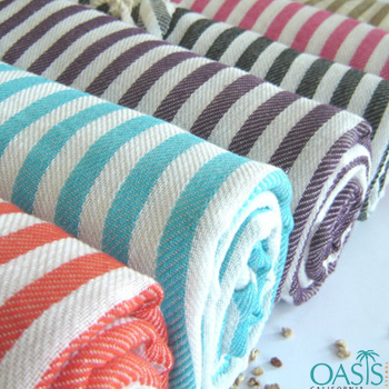 Wholesale Ribbed Stripe Wholesale Turkish Towels Manufacturer