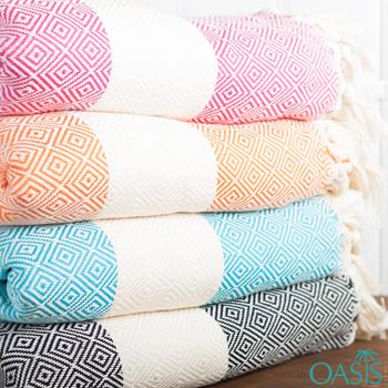 Wholesale Diamond Weave Wholesale Turkish Towels Manufacturer