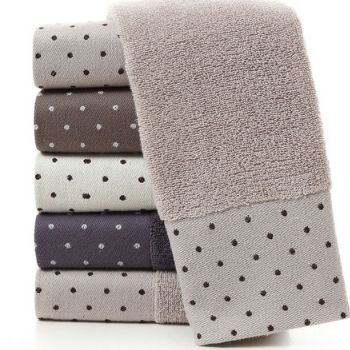 Wholesale Soft White and Grey Embossed Bath Towel Set