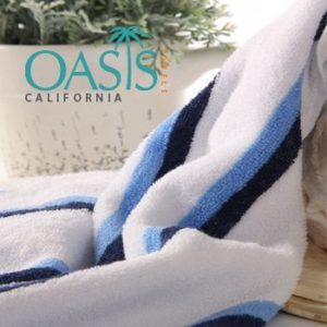 Wholesale Majestic White and Twin Striped Towels Manufacturer