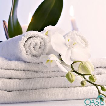 Wholesale Plain White Combed Effect Hotel Towels Manufacturer
