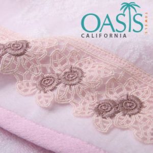 Classic White-Laced Towels Wholesale Manufacturer