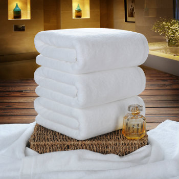 White Self-Structured Luxury Towel Set
