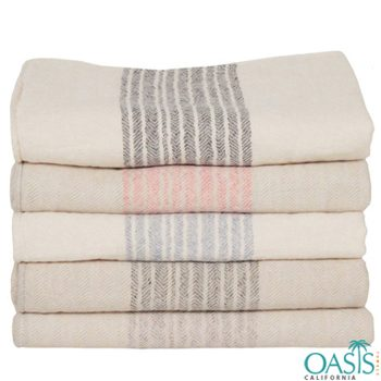 Wholesale Manufacturer of White Organic Towel Set With Stripes