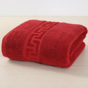 Wine Red Etched Bordered Towels Manufacturer