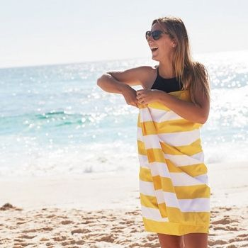 Wholesale Lemon Yellow Lavish Beach Towels