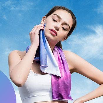 Wholesale Purple Custom Yoga Cooling Towel